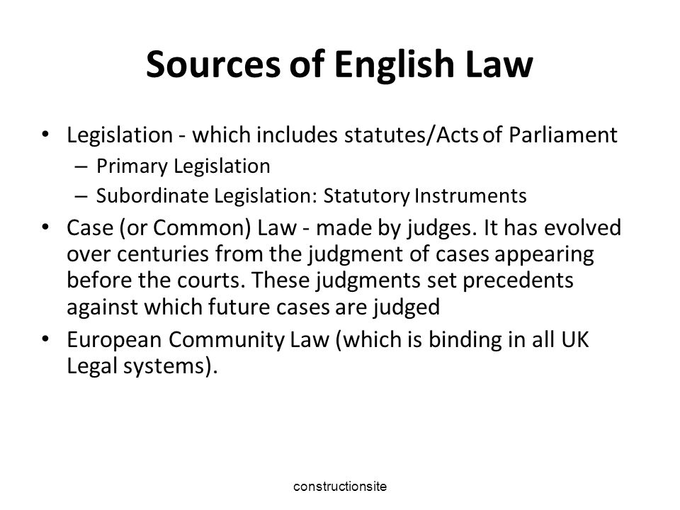 The Court System The County Court The Magistrates' Court The Crown Court The High Court The Court of Appeal The Supreme Court The European Court of Justice The European Court of Human Rights.