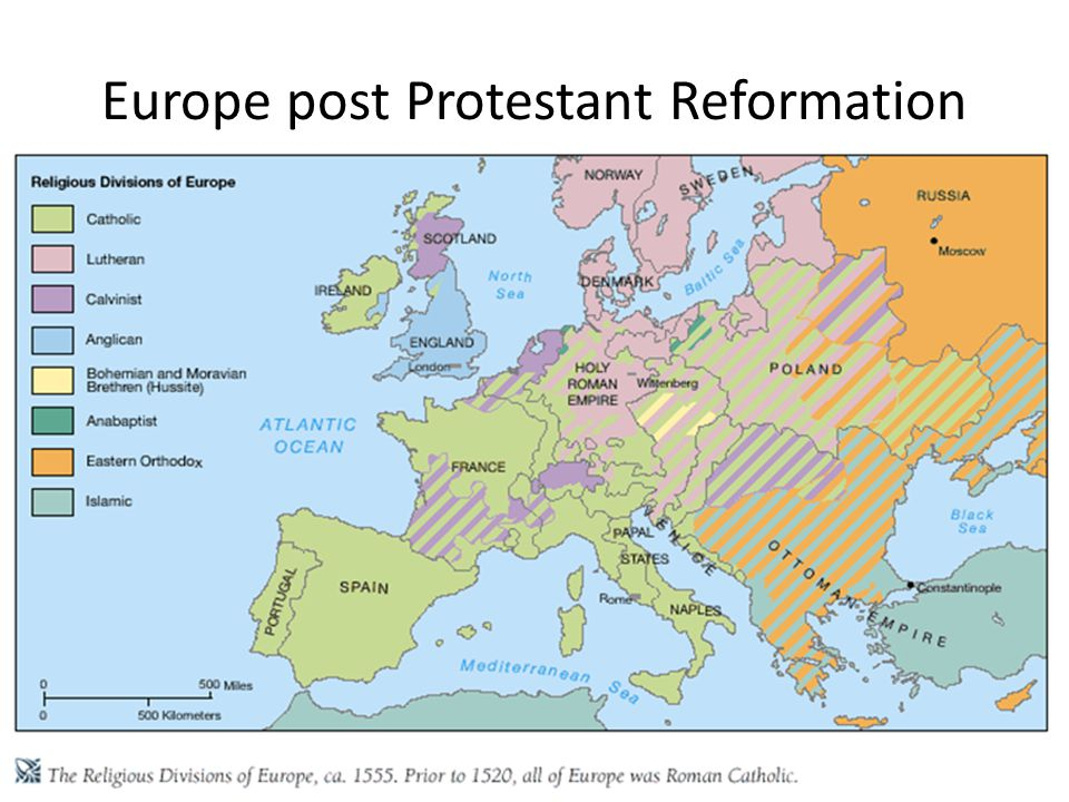 Europe post Protestant Reformation