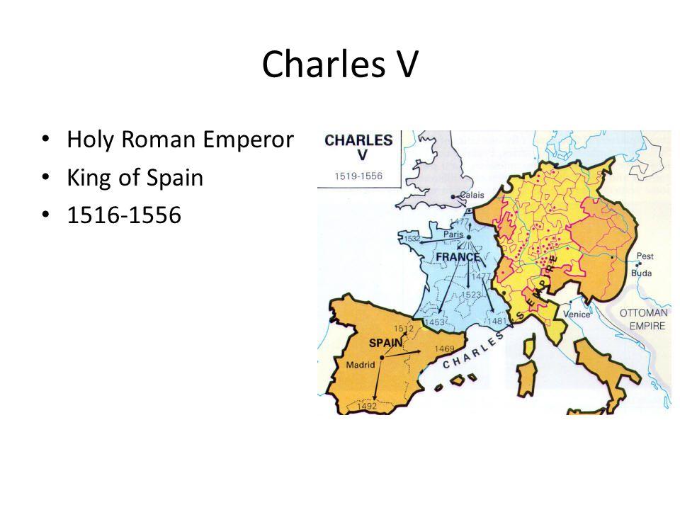 Charles V Holy Roman Emperor King of Spain 1516-1556