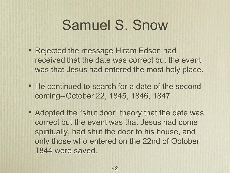 42 Samuel S.