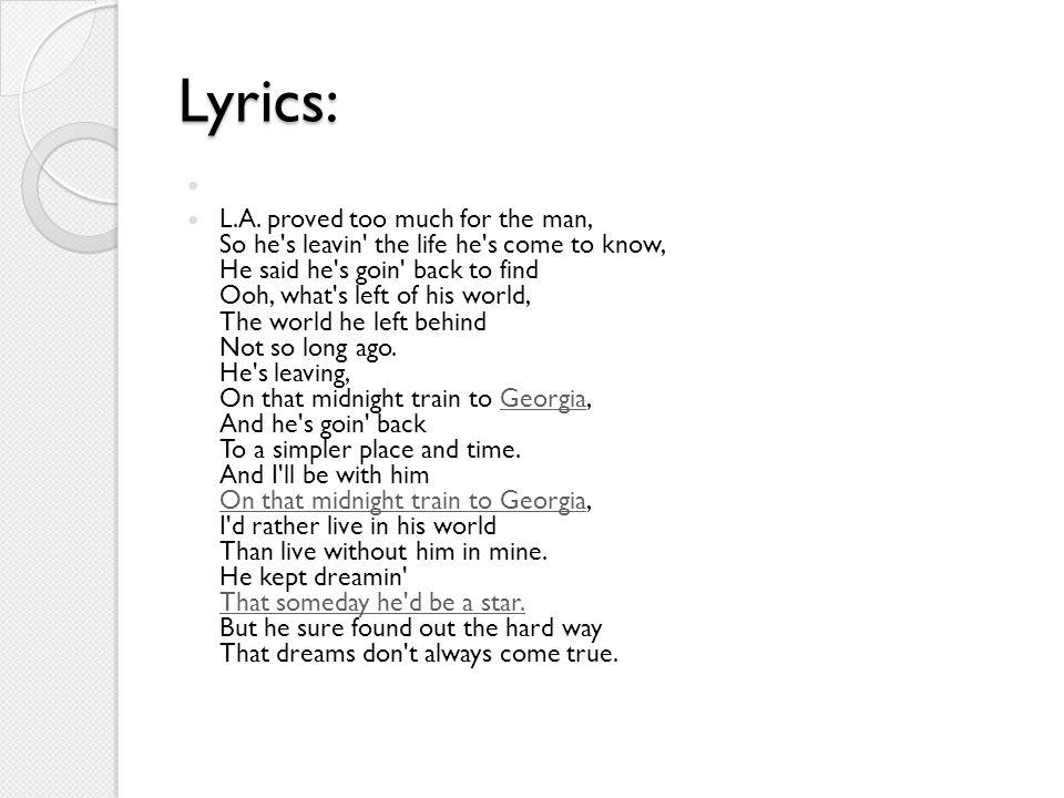 Lyrics: L.A.