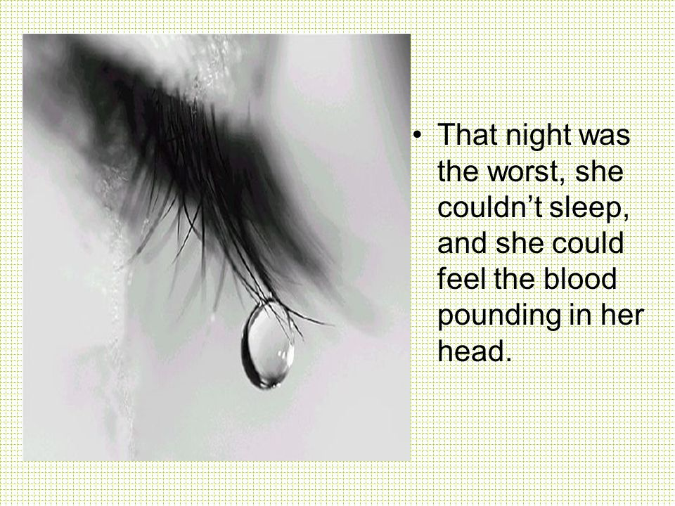She felt his pulse, dead.She felt hers, fast but alive.