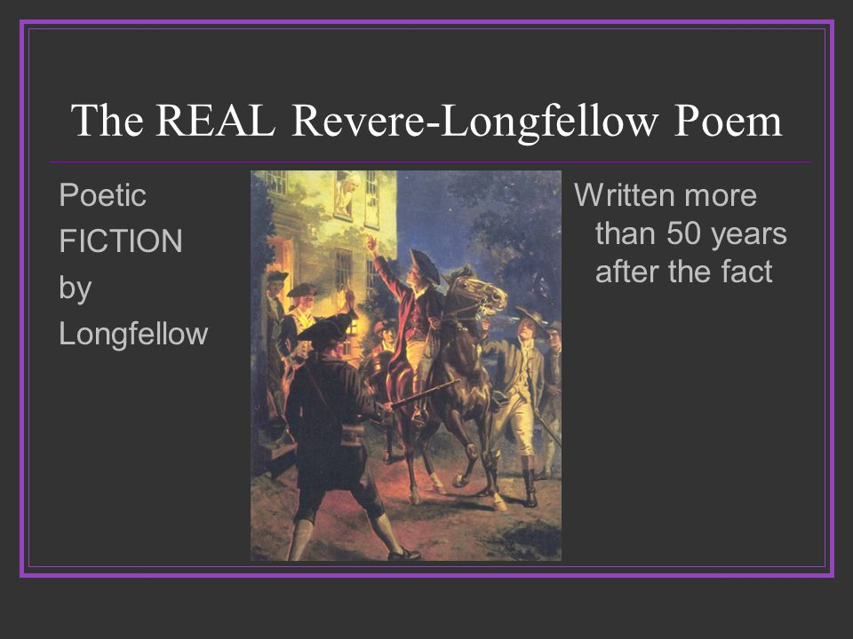 The REAL Revere-not an Alerter No evidence to suggest he awoke a single minuteman.