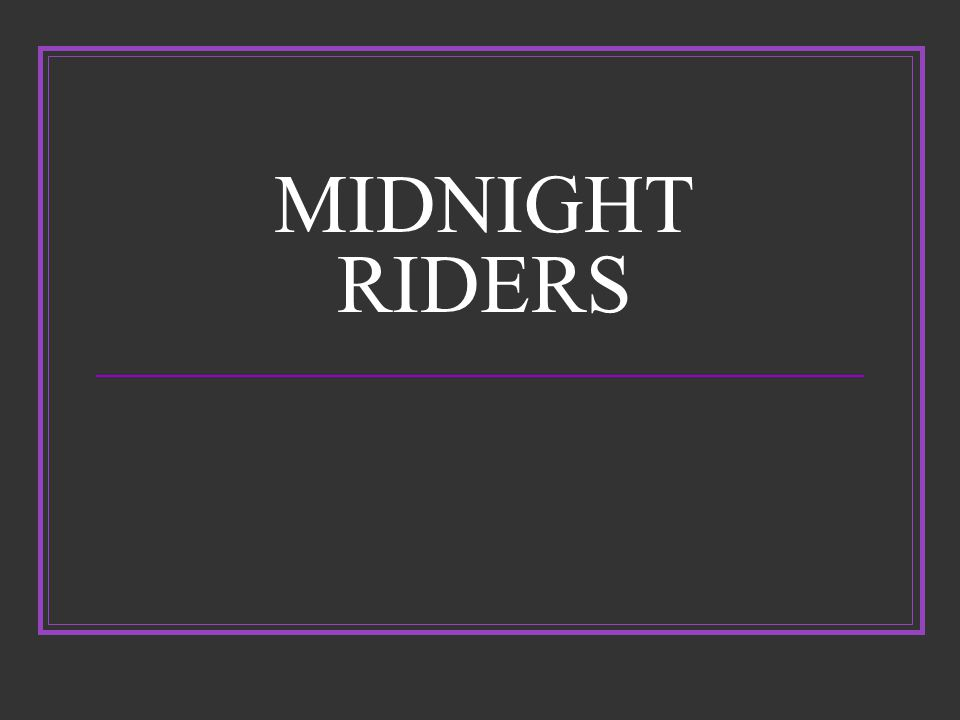 Midnight Riders- Israel Bissel 25 yr old rider for the mail service.