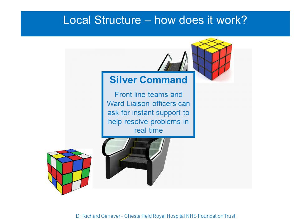 Silver Command Front line teams and Ward Liaison officers can ask for instant support to help resolve problems in real time Local Structure – how does it work.