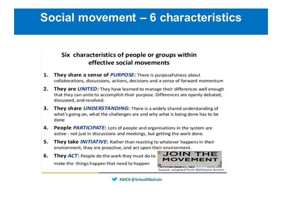 Social movement – 6 characteristics