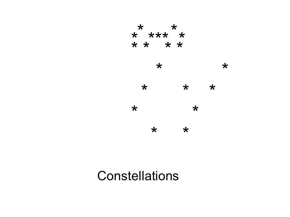 * * * *** * * * * * * * * * Constellations