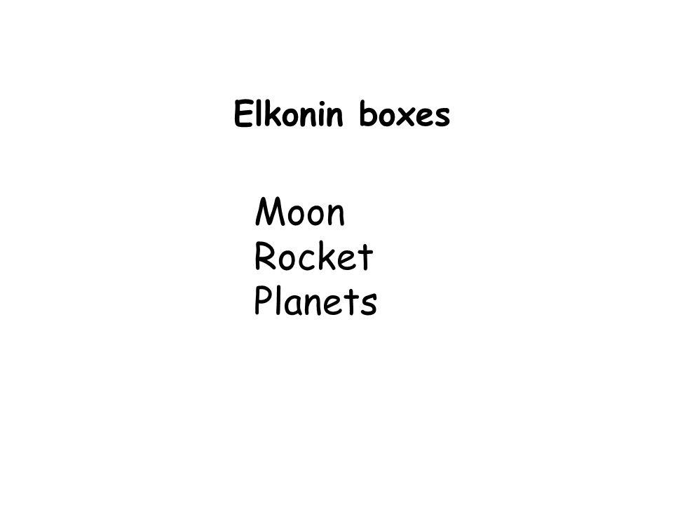 Elkonin boxes Moon Rocket Planets