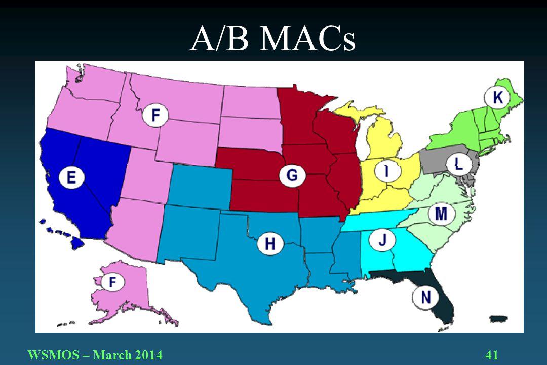 41WSMOS – March 2014 A/B MACs