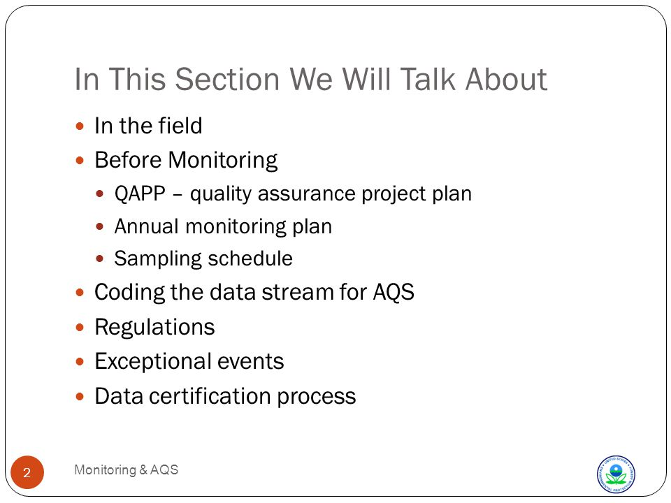 Met and Non-NAAQS Monitoring Monitoring & AQS 13 Simpler Not as many regs and implications as for NAAQS For all, it is the same process to get the data into AQS