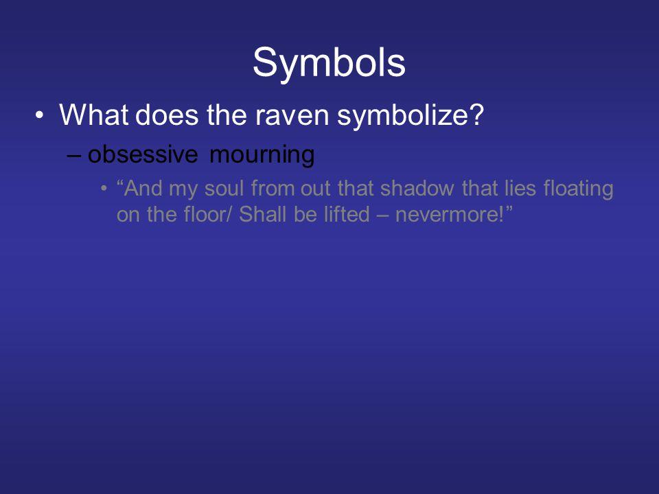 Symbols What does the raven symbolize.