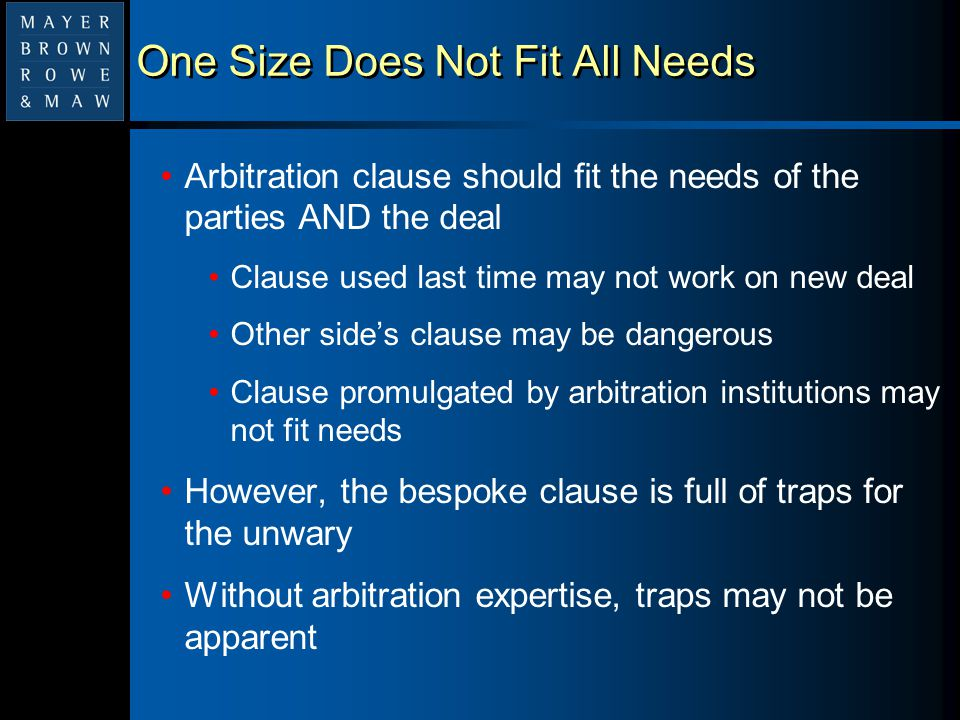 Trap 1:The Missing Party Clause fails to name all the parties with rights/obligations under the agreement Parent – the one with the money Guarantor – not bound to arbitrate based on separate guarantee alone Host government – only if all formalities observed Subcontractors