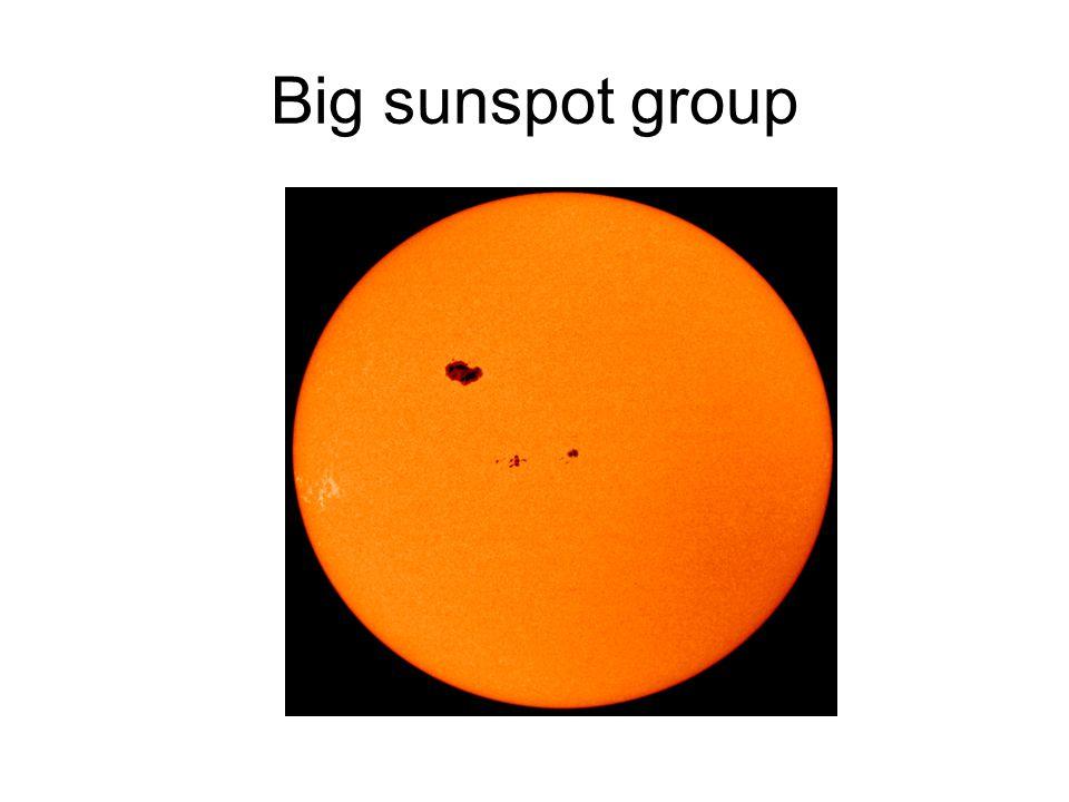 Big sunspot group