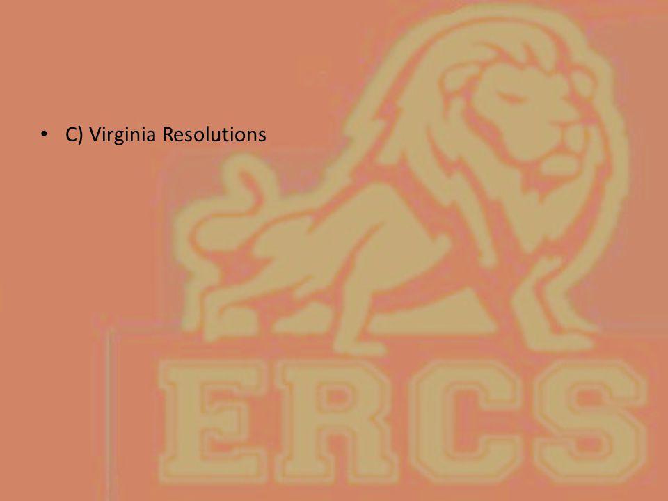 C) Virginia Resolutions