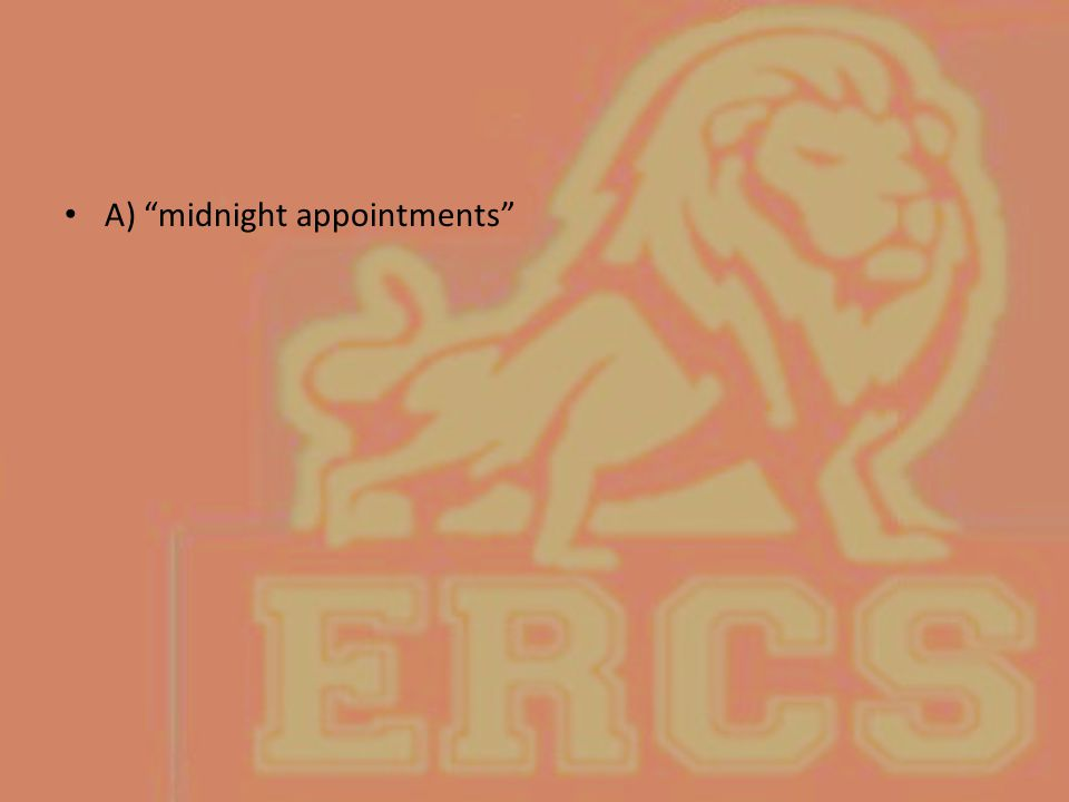 """A) """"midnight appointments"""""""