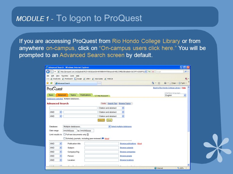 MODULE 6 – Cite ProQuest articles Select Citations only and MLA and click Download, Print or Email depending on what you would like to do.