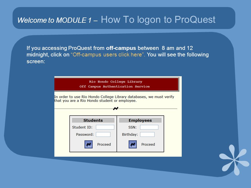 MODULE 3 - Searching ProQuest: Example 1 Let's look at the following example You have a citation for an article and want to find this article in ProQuest using Document title, Author, and Publication title menu options Hacking, Jan.