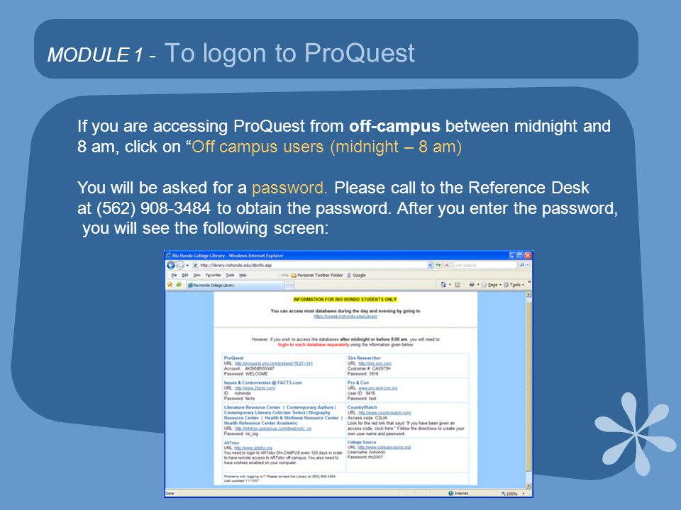In MODULE 2 you will learn how to do a Basic Search in ProQuest By default, ProQuest searches all document types.
