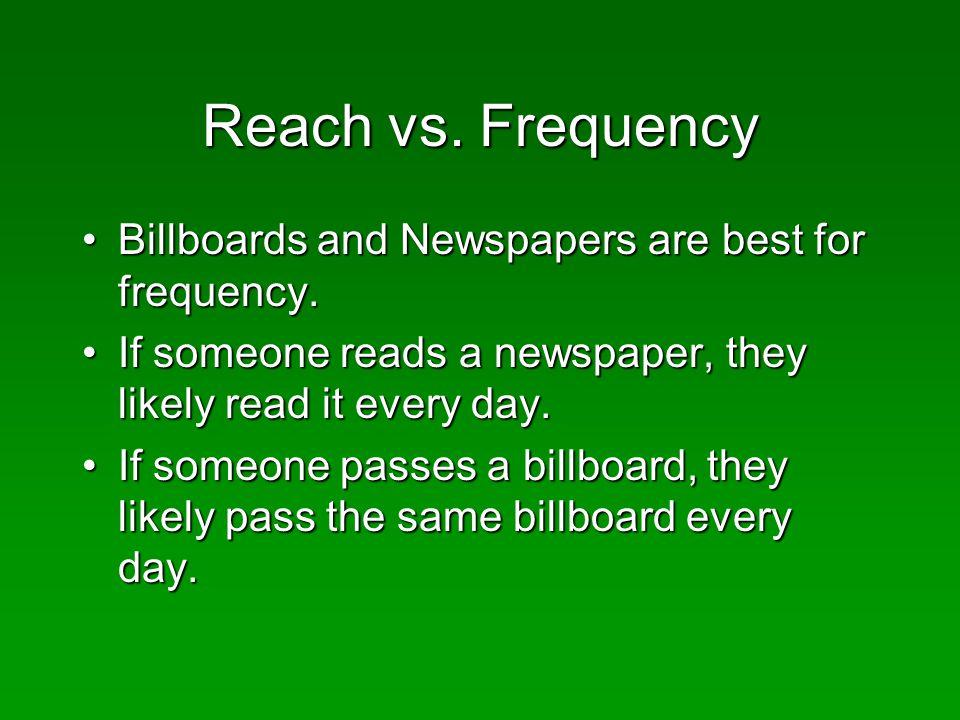 Reach vs.