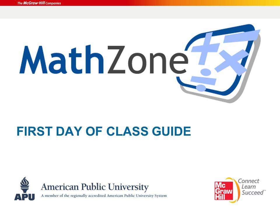 FIRST DAY OF CLASS GUIDE