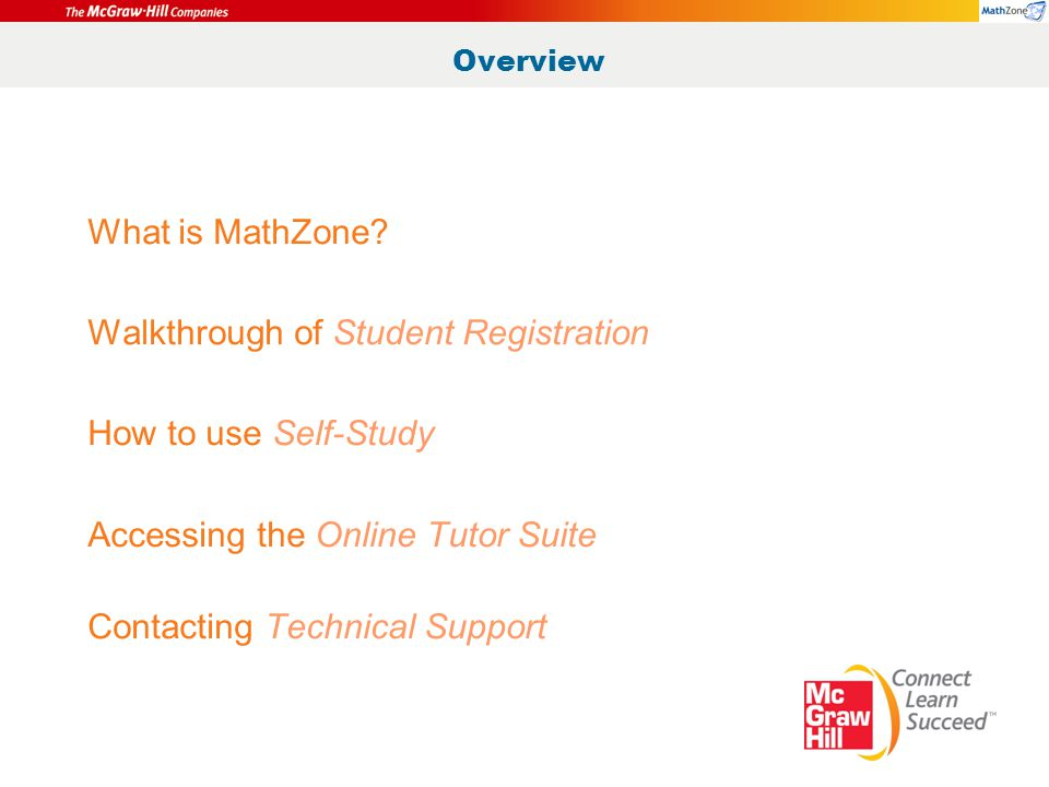 Overview What is MathZone.