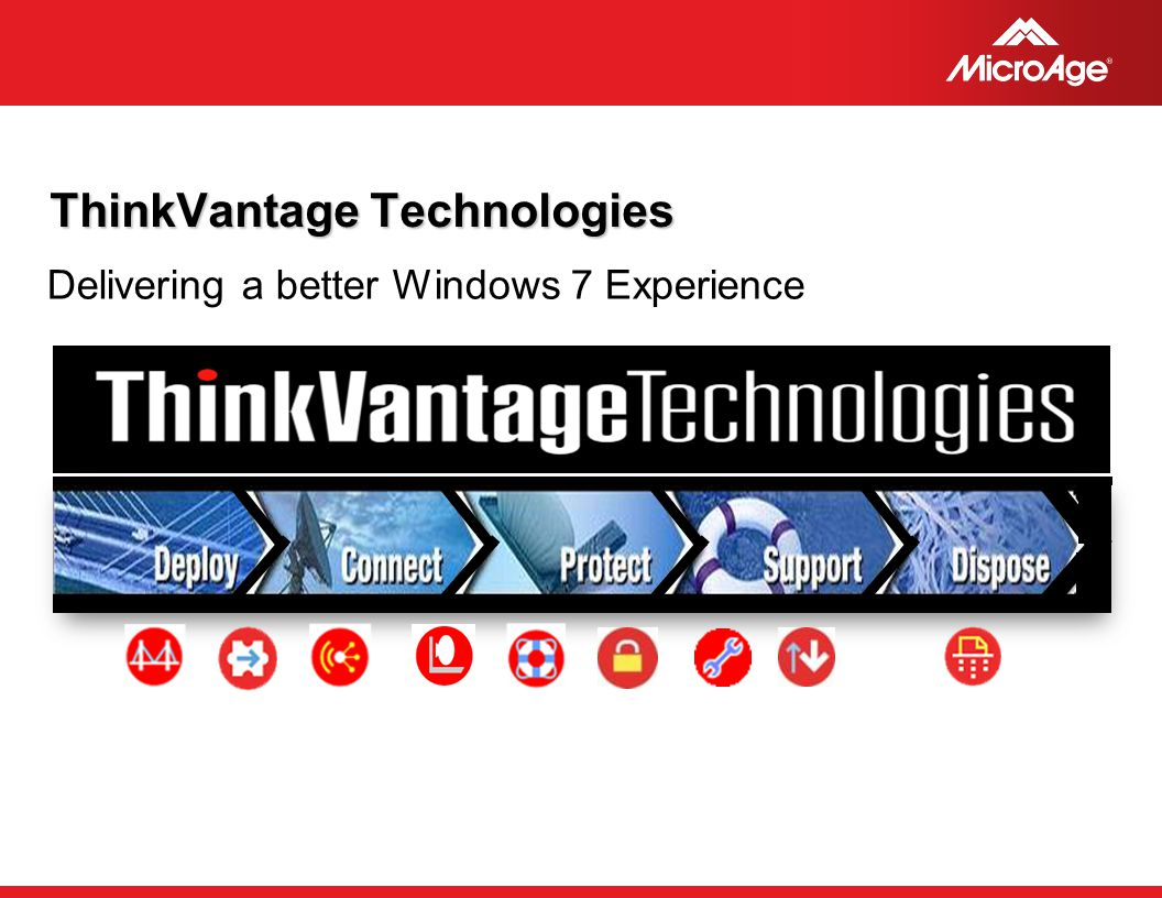 © 2006 MicroAge ThinkVantage Technologies Delivering a better Windows 7 Experience