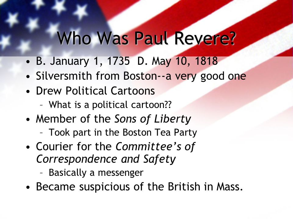 Midnight Ride of Paul Revere Fact vs. Fiction