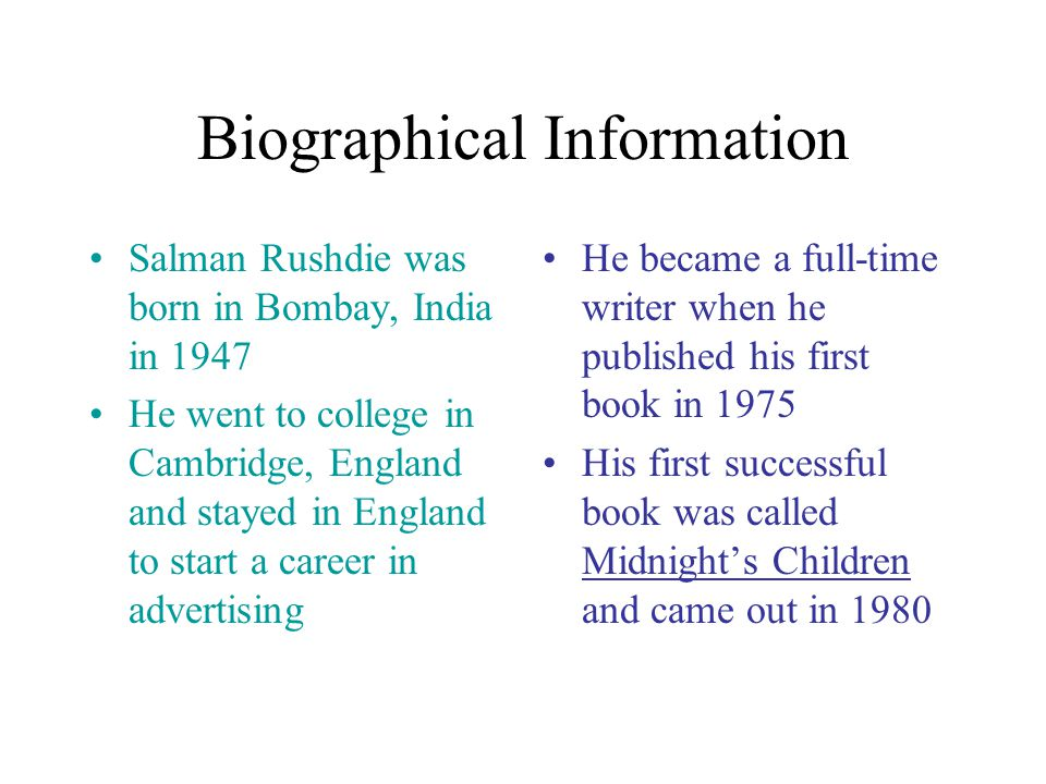 Who is Salman Rushdie ?