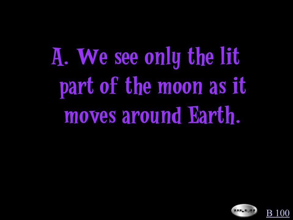 Why do we see phases of the moon during a month.