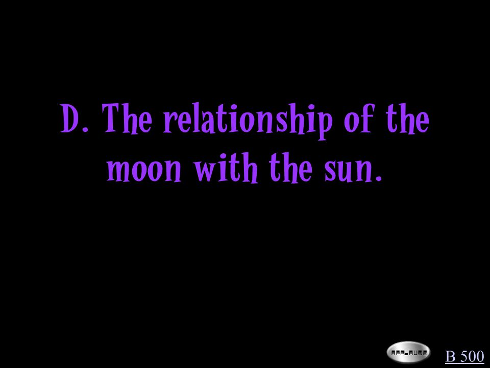 What is the light portion of the moon moving across the face of the moon through the cycle.