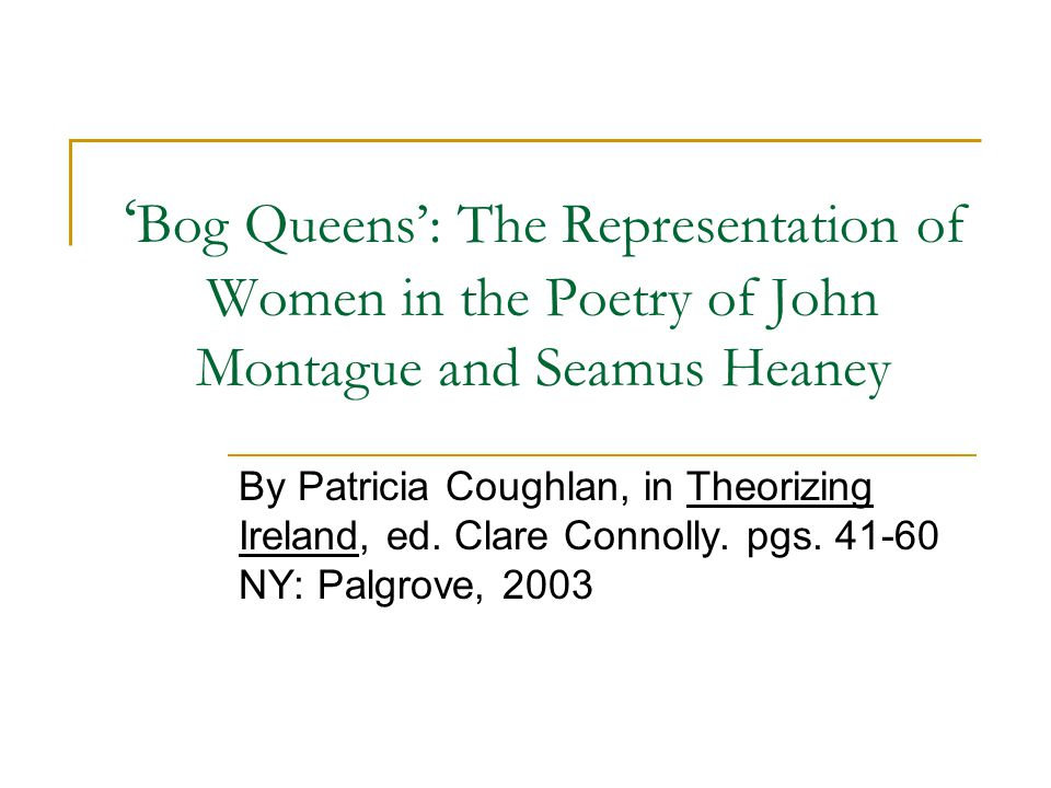 'Bog Queens' Painstakingly discussed, reviewed, summarized, & satirized by Christopher C.
