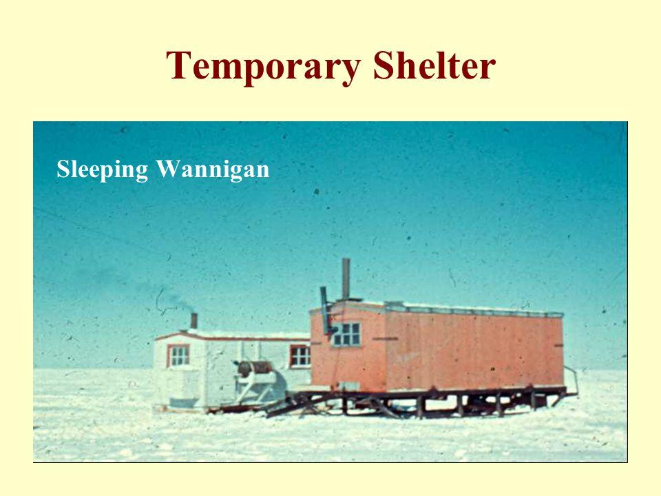 Temporary Shelter Sleeping Wannigan