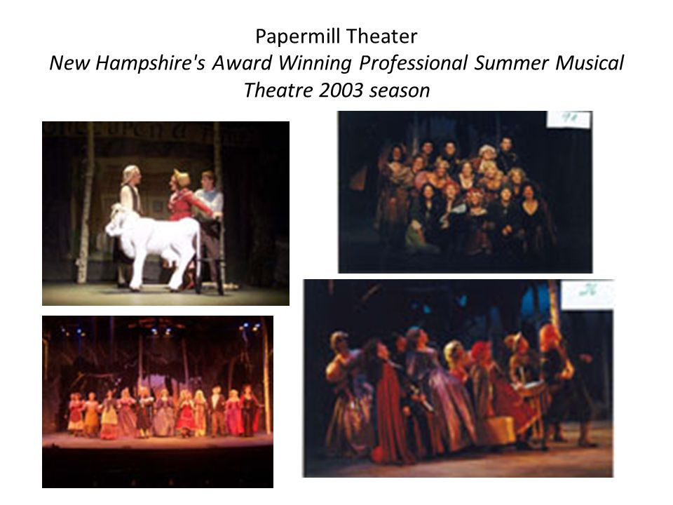 Papermill Theater New Hampshire s Award Winning Professional Summer Musical Theatre 2003 season