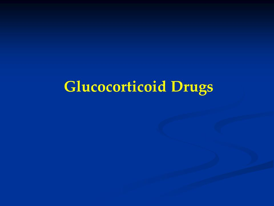 Glucocorticoid Drugs