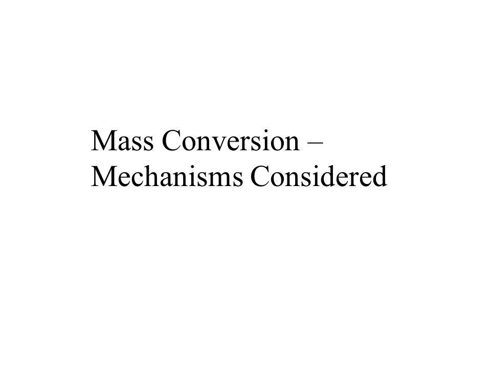 Mass Conversion – Mechanisms Considered