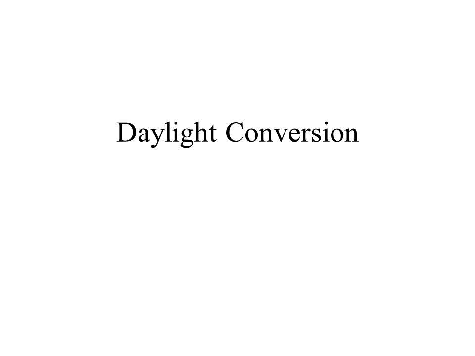 Daylight Conversion