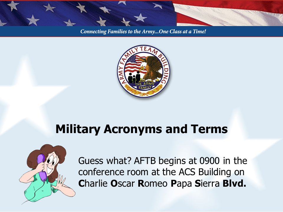 Military Acronyms and Terms Guess what.