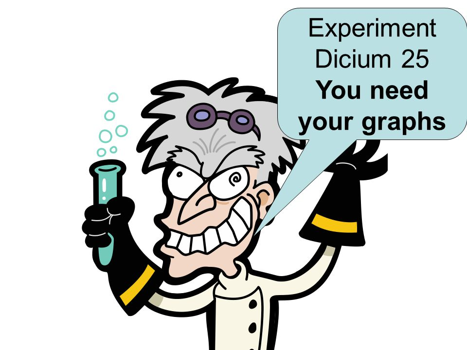 Experiment Dicium 25 You need your graphs