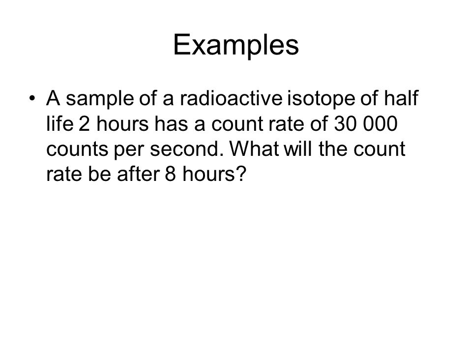 Question 7 The mass of a radioactive substance over a 8 hour period is shown in the table below.