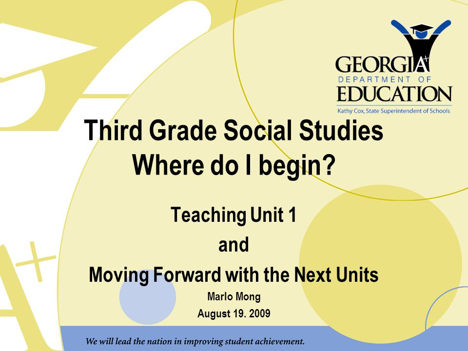 Third Grade Social Studies Where do I begin? Teaching Unit 1 and Moving Forward with the Next Units Marlo Mong August 19. 2009