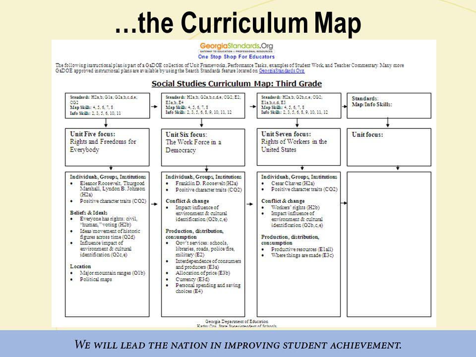 …the Curriculum Map