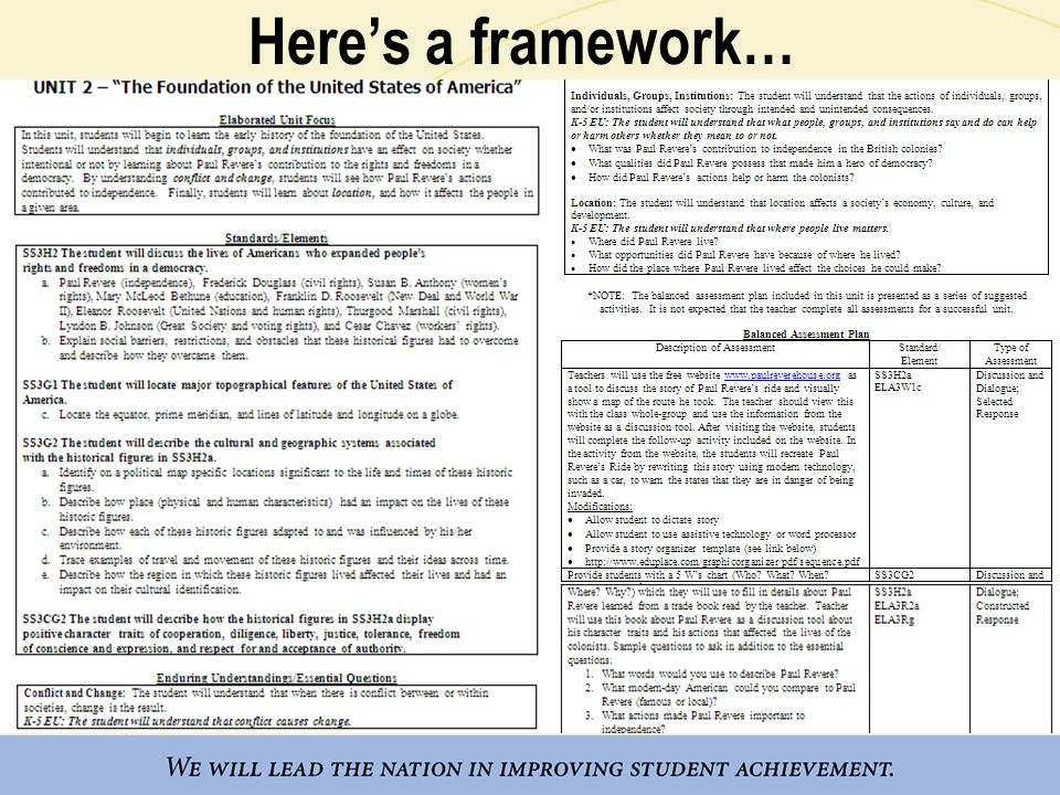 Here's a framework…