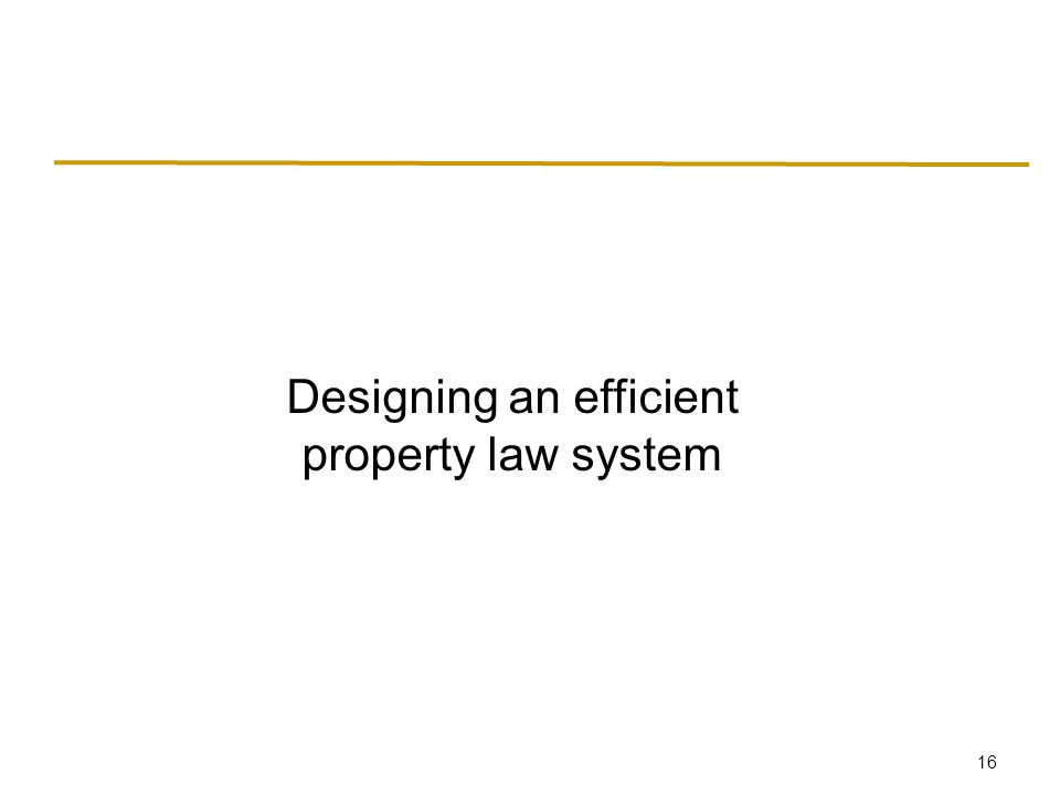 16 Designing an efficient property law system