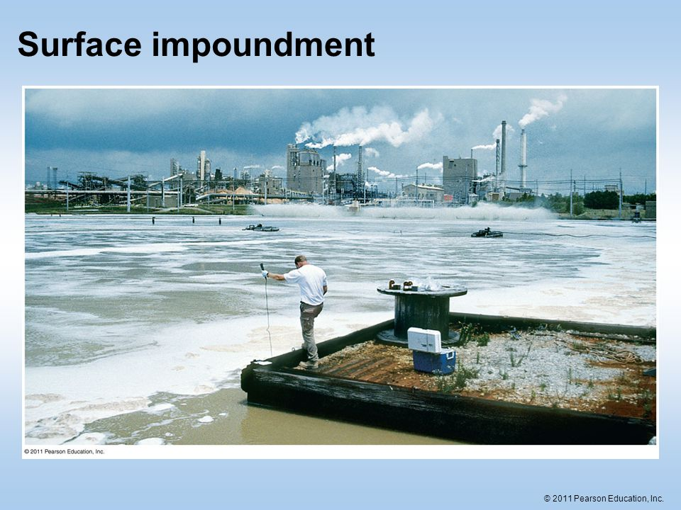© 2011 Pearson Education, Inc. Surface impoundment