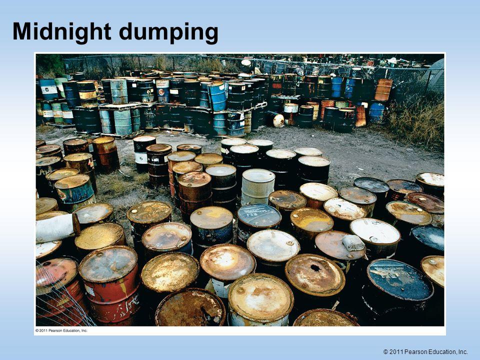 © 2011 Pearson Education, Inc. Midnight dumping