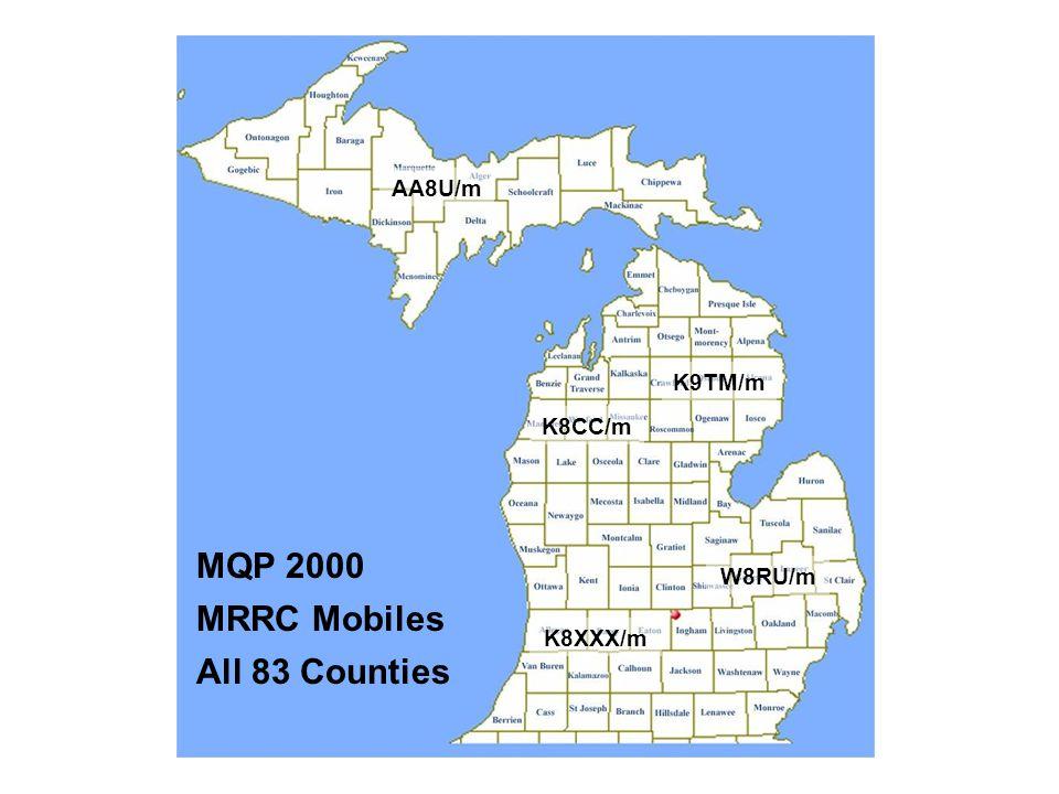 MQP 2000 MRRC Mobiles All 83 Counties AA8U/m K8CC/m K9TM/m W8RU/m K8XXX/m
