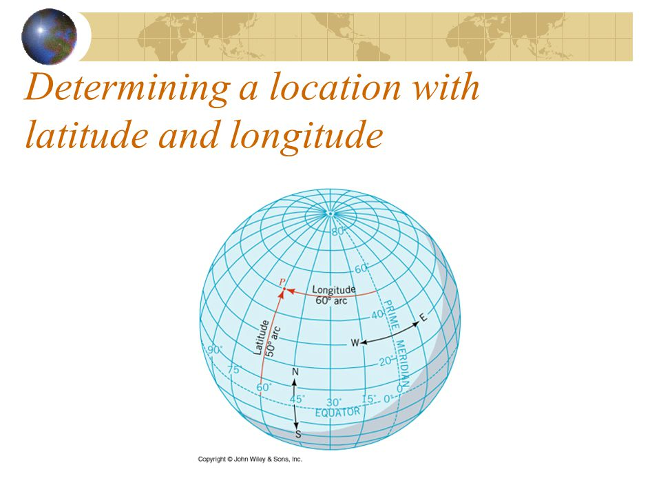 Determining a location with latitude and longitude