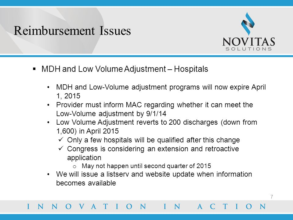FY 2014 Proposed Rule for DSH - Overview of ACA Provisions  Effective for discharges on or after 10/1/2013  Expands DSH to more hospitals, due to expanded Medicaid programs Empirically Justified Amount – 25% of estimated DSH payments (current method) – no changes Uncompensated Care Amount – 75% of estimated DSH payments- three factors Factor 1 – estimation of 75% of global DSH payment Factor 2 – reduction based on estimated decrease in uninsured Factor 3 – individual hospital's proportion of uncompensated care to all DSH hospitals' uncompensated care Uncompensated care payments are based on an estimate CMS not accepting the uncompensated care amounts on WS S-10 Reimbursement Issues 8