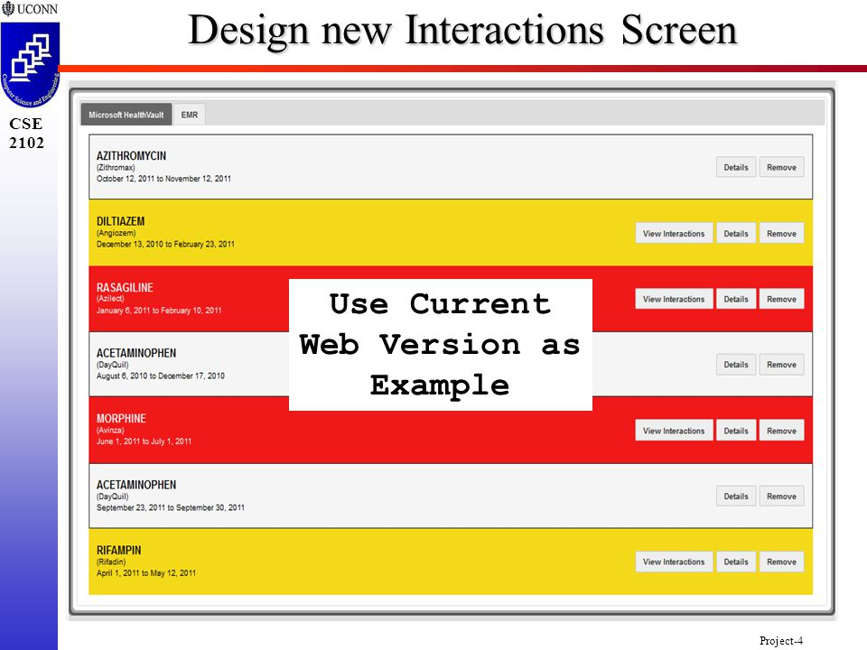 Project-4 CSE 2102 Design new Interactions Screen Use Current Web Version as Example