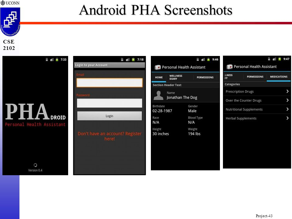 Project-43 CSE 2102 Android PHA Screenshots